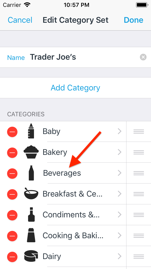 feature overview category sets anylist help
