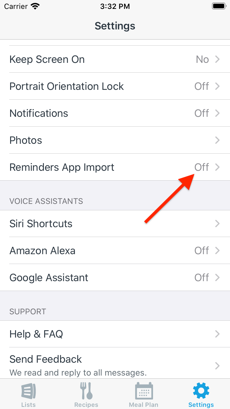 How do I add items to my lists using the Reminders app